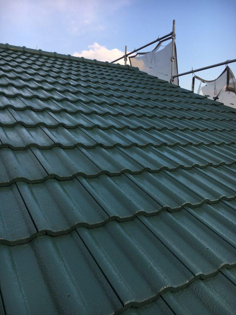 浜松市北区三ヶ日町 屋根遮熱塗装 サーモアイ4F 施工後