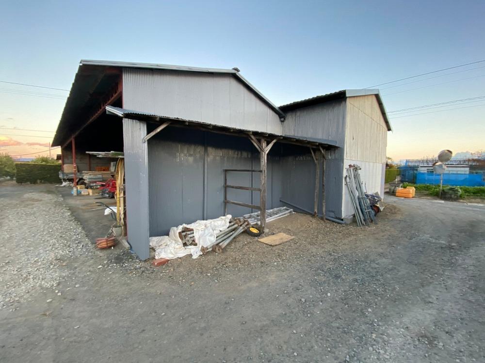 浜松市浜北区,資材置き場,波トタン塗装
